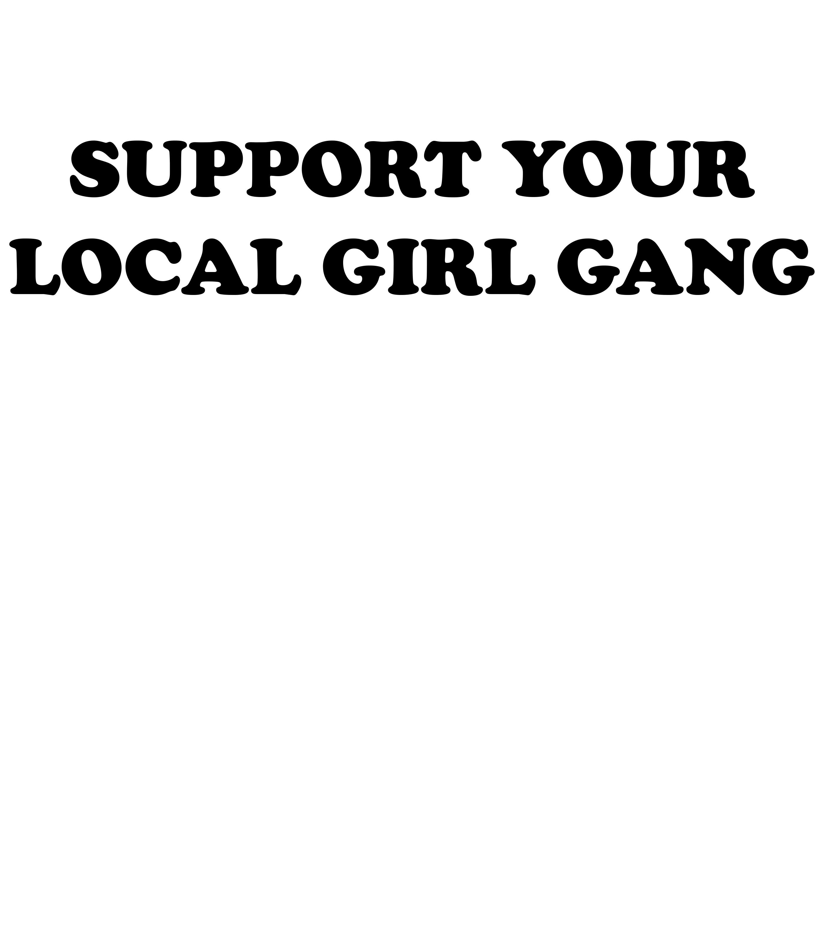 Camiseta estampa local girl gang