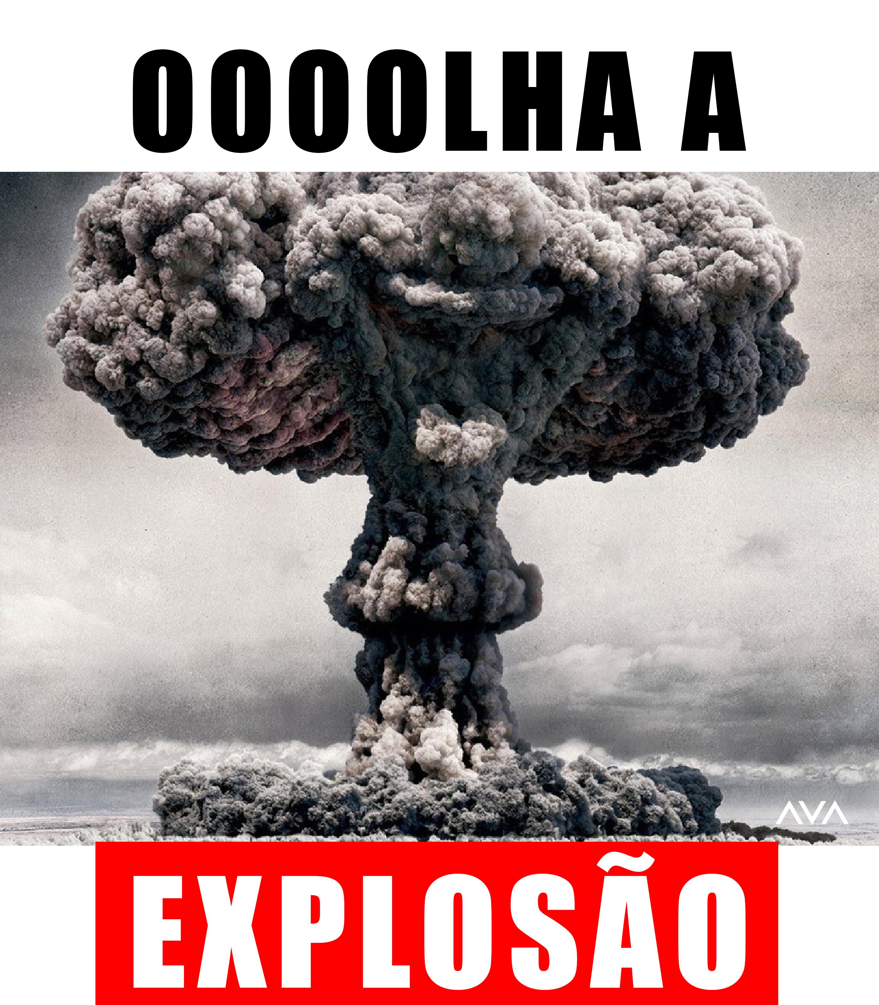 Camiseta estampa Olha a explosão