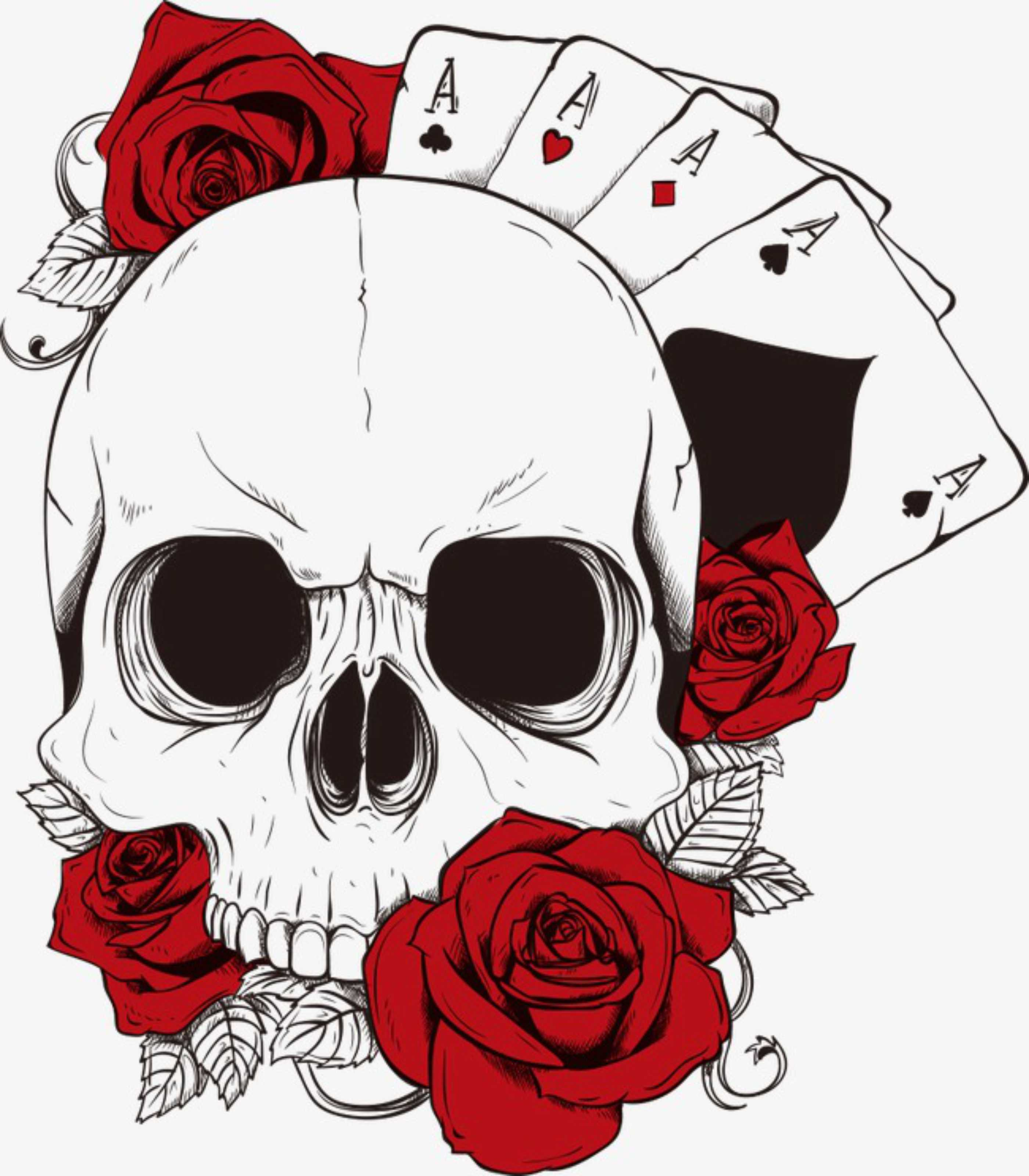 Camiseta Caveira E Rosas Vandal